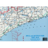 McKenzie A-2 Laminated BWCAW-Quetico Area Map